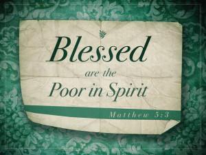 Matthew 5v3 A True Christian is Poor in Spirit