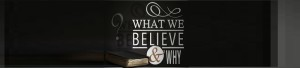 What We Believe – Scripture Alone