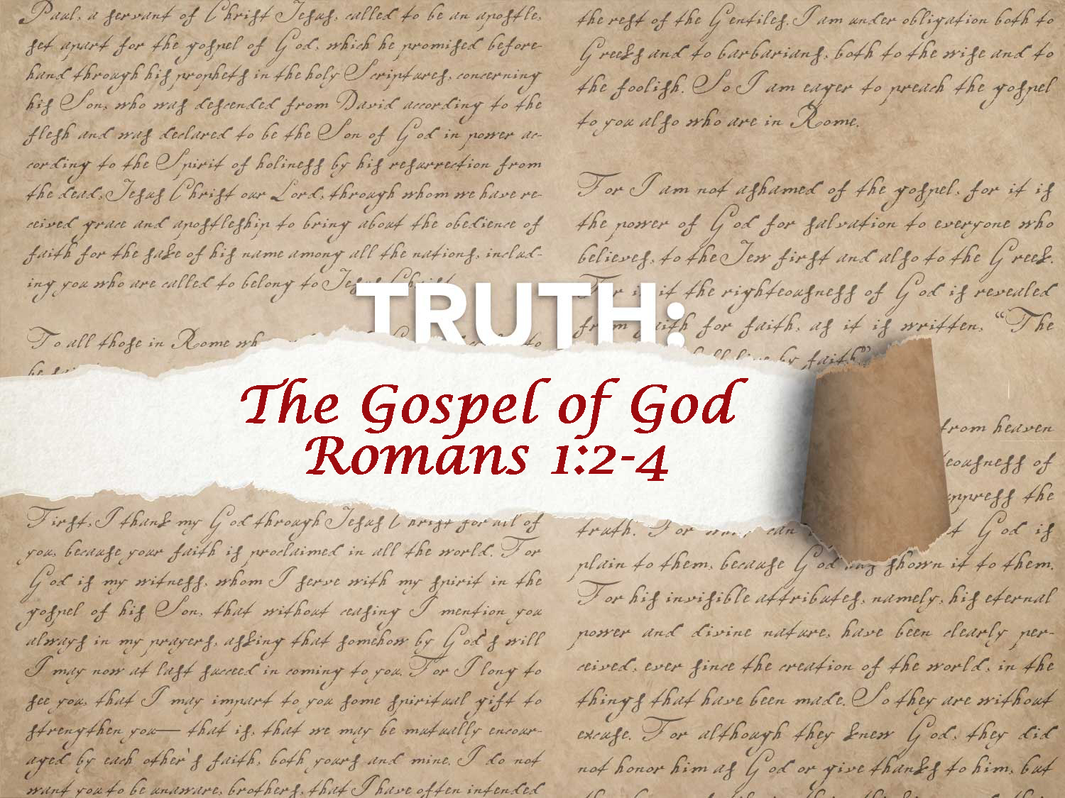 Romans 1:2-4 The Gospel of God