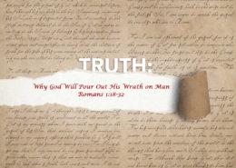 Romans 1:18-32 the wrath of god banner