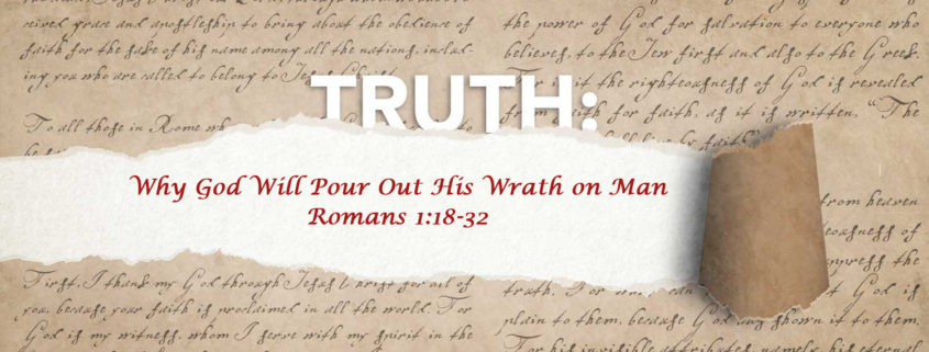 Romans 1:18-32 the wrath of god banner