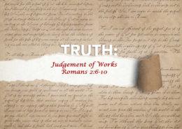 Romans 2:6-10 judgement of works banner