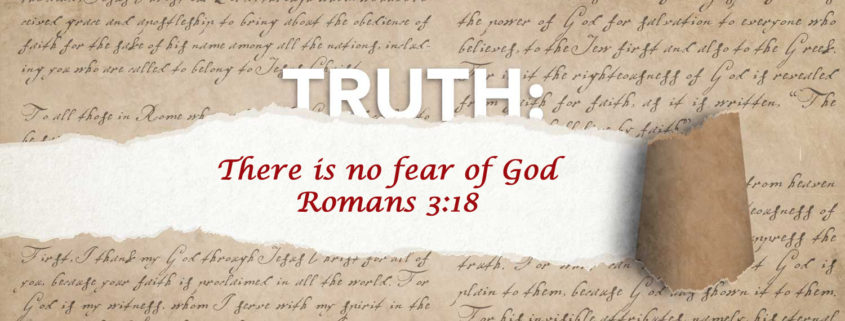 Romans 3:18 fear of God banner