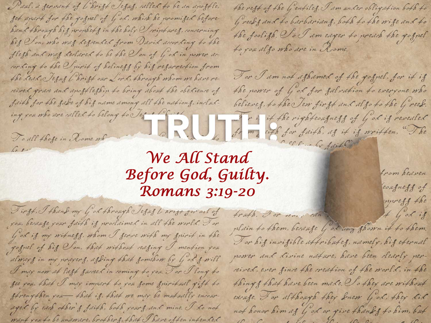 Read more about the article Romans 3:19-20 We All Stand Before God Guilty
