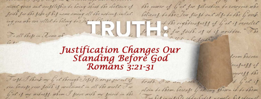 Romans 3:21-31 Justification banner