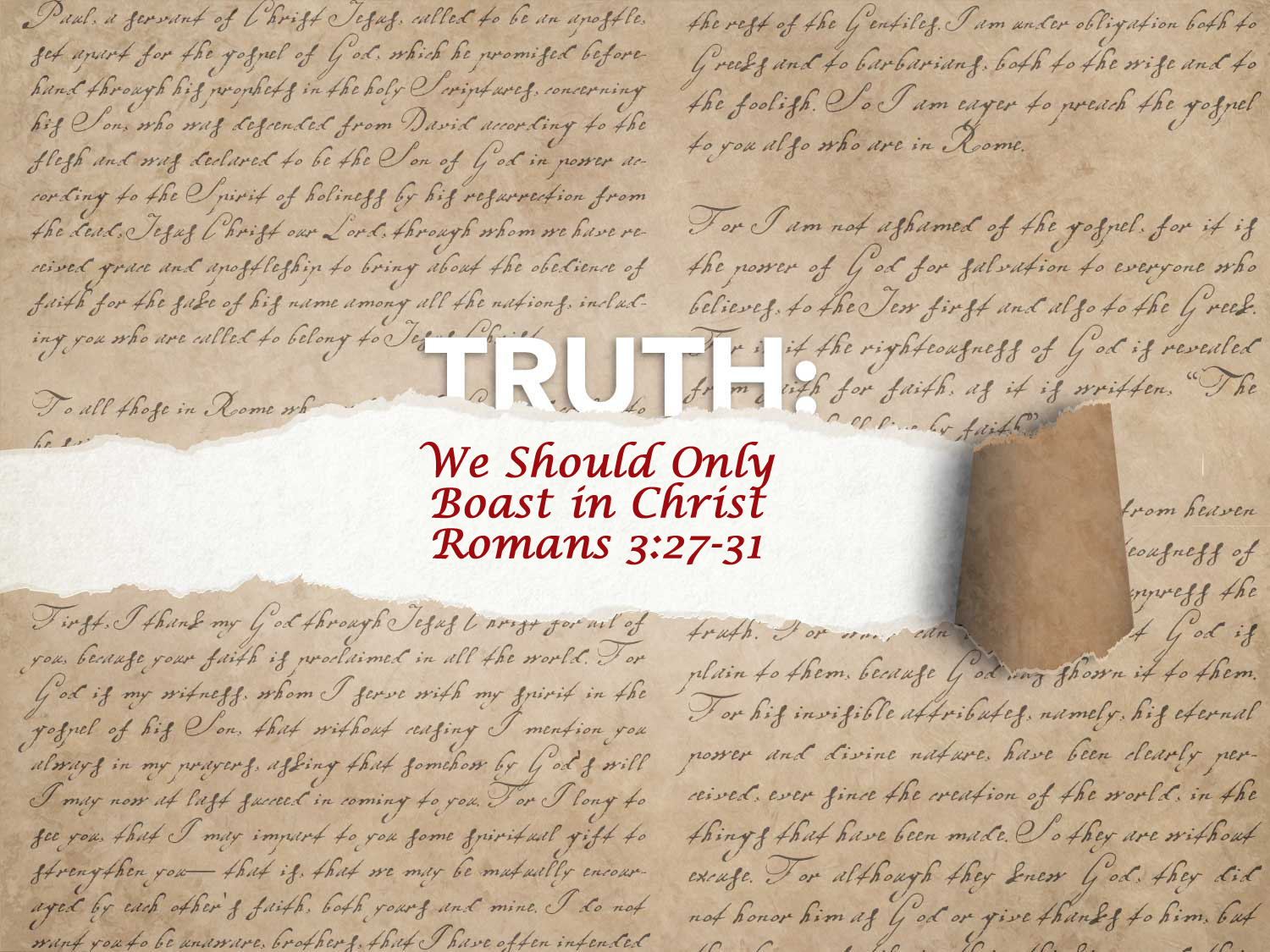 Read more about the article Romans 3:27-31 This Christmas We Should Only Boast In Christ