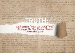 Romans 4:1-8 banner salvation by faith