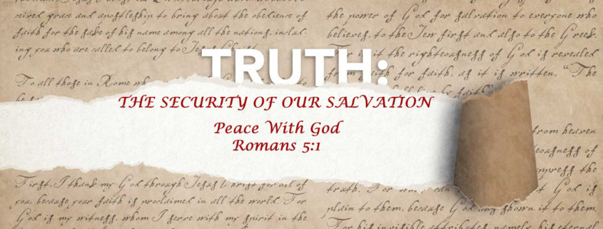 Romans 5:1 Peace with God banner
