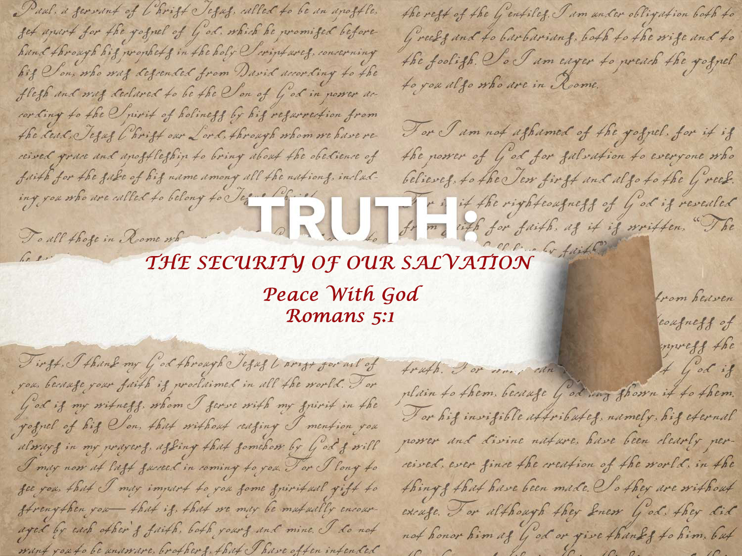 Read more about the article Romans 5:1 Security of Salvation – Peace With God