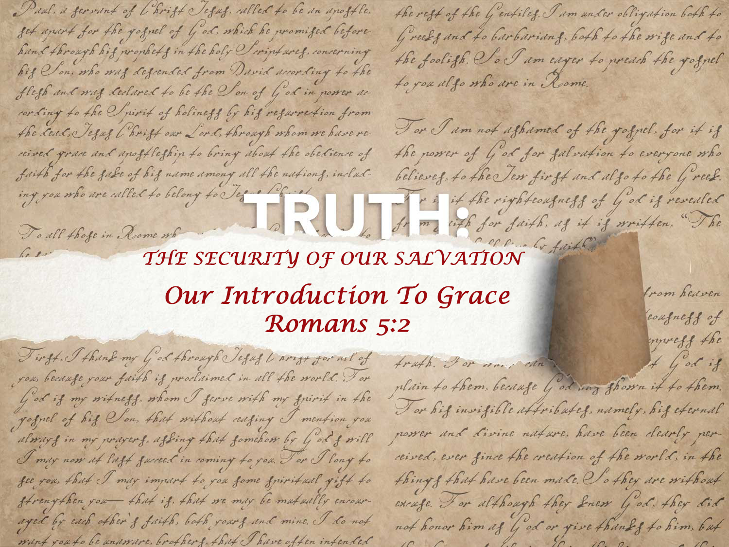 Romans 5:2 Our Introduction To Grace