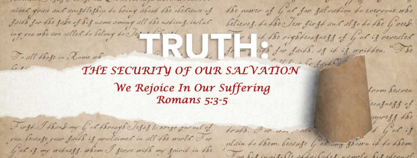 Romans 5:3-5 rejoicing in suffering banner