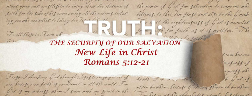 Romans 5:12-17 life in Christ banner