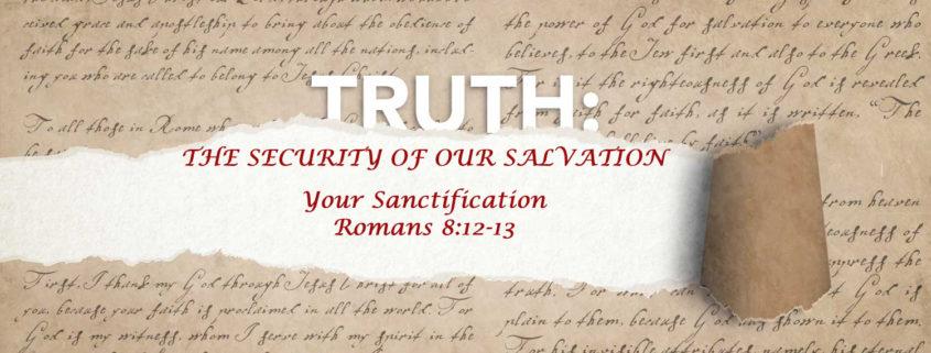 Romans 8:12-13 Banner