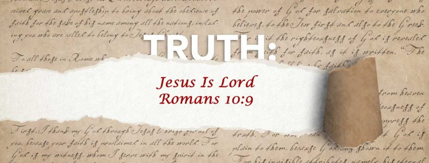 Romans 10:9 Jesus is Lord banner
