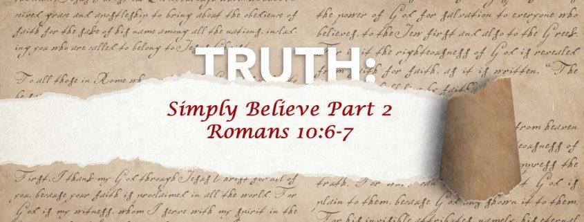 Romans 10:6-7 banner