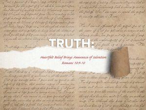 Romans 9:10 Heartfelt Belief Brings Assurance Of Salvation