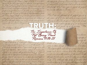 Read more about the article Romans 11:18-21 The Importance Of Not Being Proud