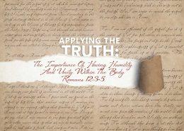 Romans 12:3-5 banner