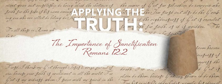 the importance of sanctification