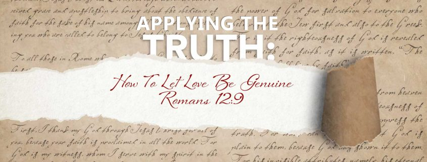 Romans 12.9 banner - let live be genuine
