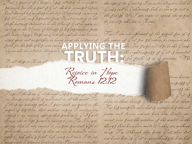 Romans 12:12 Rejoice In Hope
