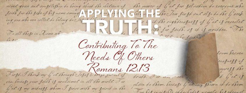 Romans 12:13 banner