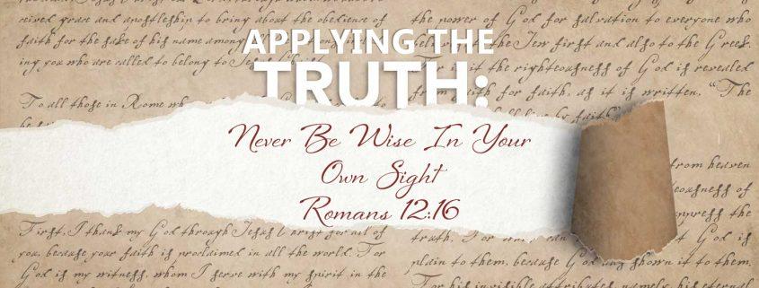 Romans 12:16 banner