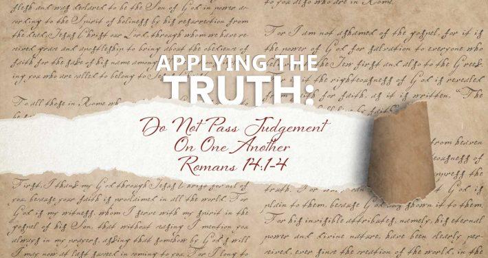 Romans 14:1-14 banner