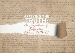 Romans 14v13-23 Edification banner