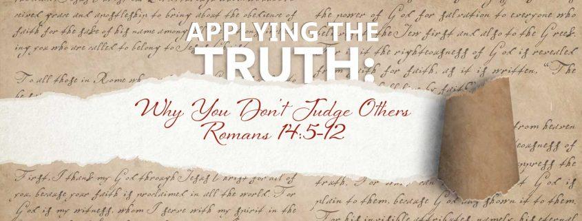 Romans 14:5-12