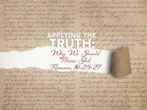 Romans 16:25-27 banner
