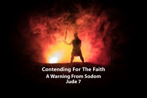 Jude 7 - A warning from Sodom banner