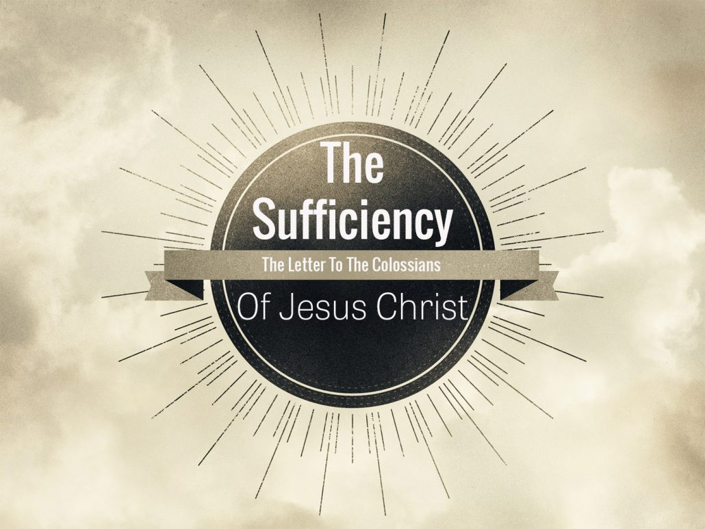 the sufficiency of Christ banner
