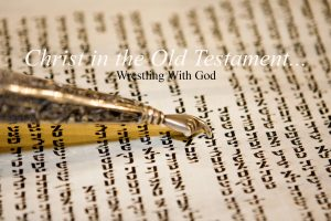Genesis 32 wrestling with God banner