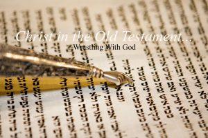 Genesis 32 wrestling with God banner