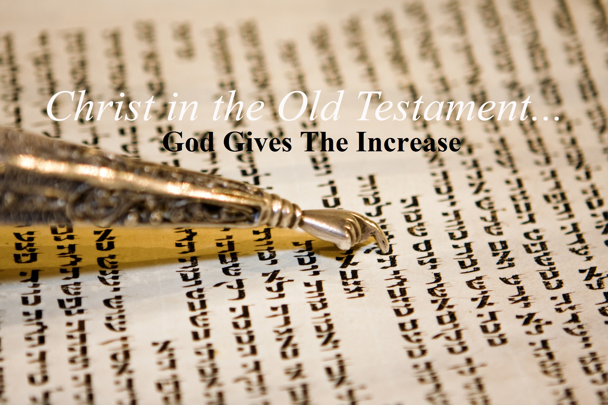 Psalm 105v1-24 God Gives The Increase