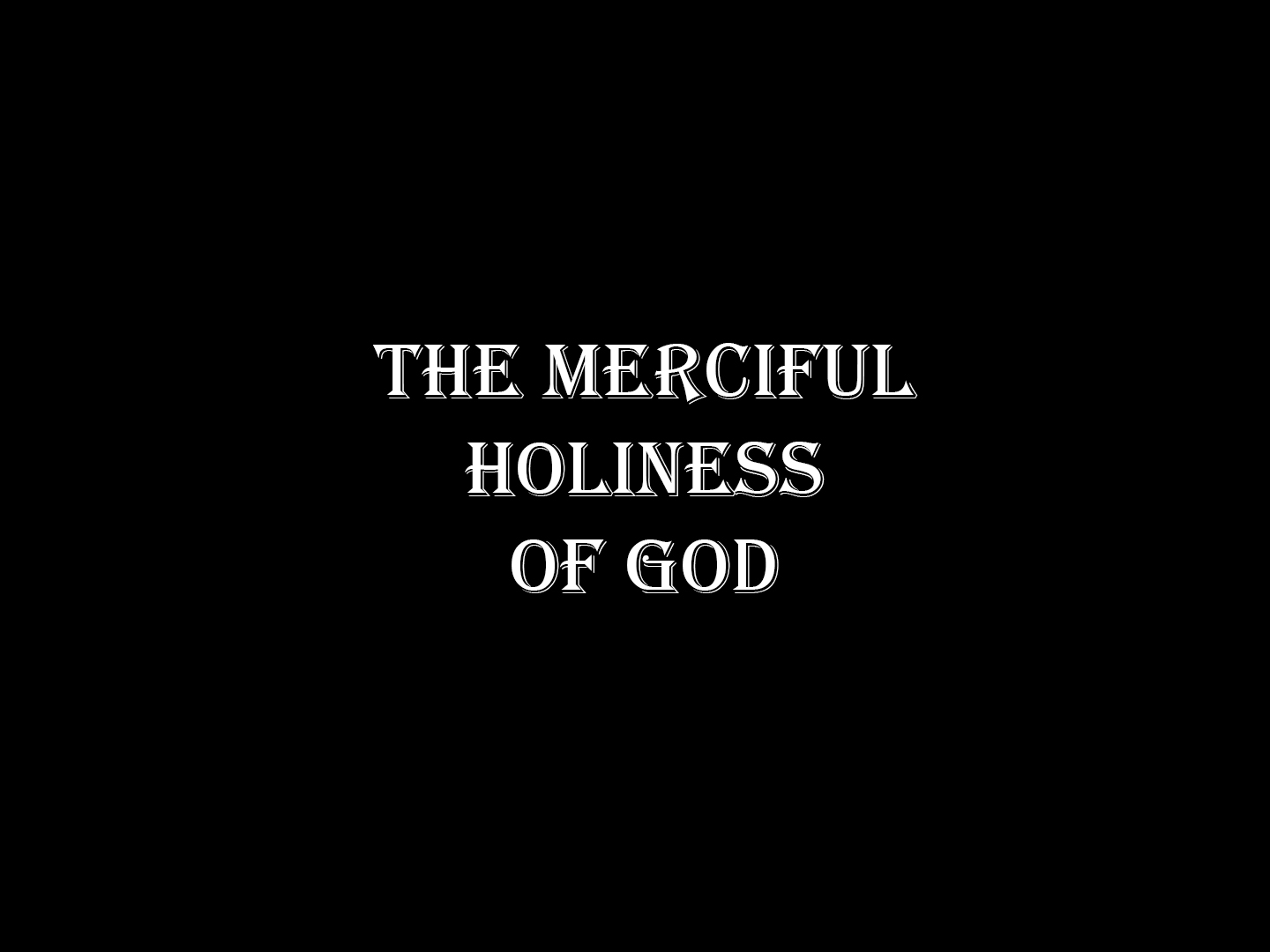 Read more about the article Exodus 15v1-18 The Merciful Holiness of God